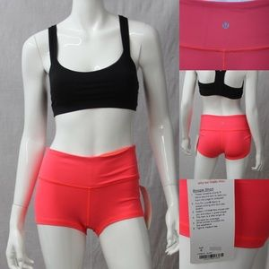 lululemon boogie shorts electric coral nwt